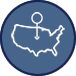 US Map Icon